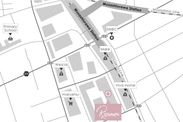 武蔵浦和店map